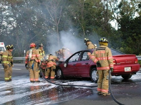 Car Fire on NYS Thruway Archives - Monsey Fire Dept
